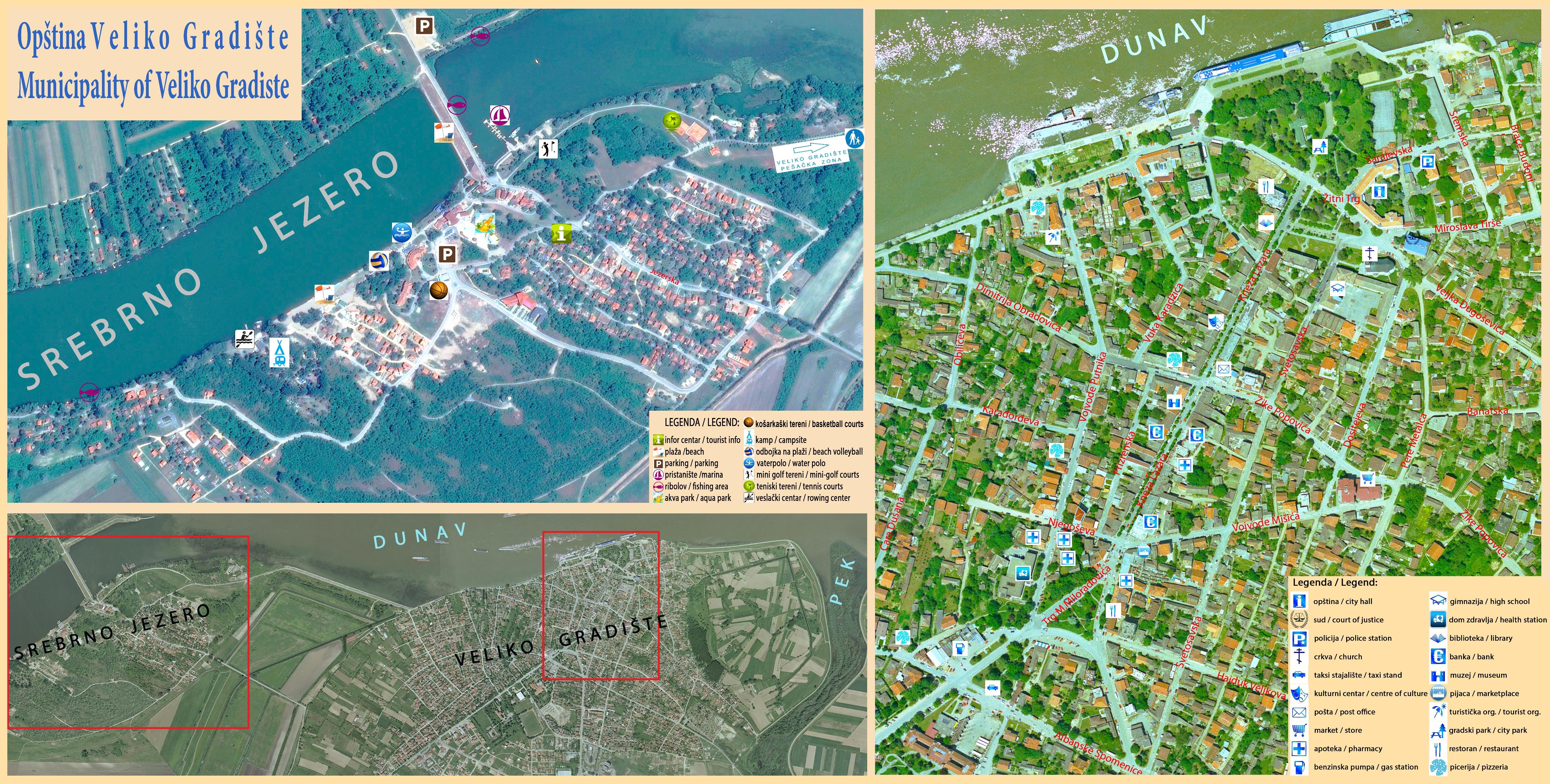 veliko gradiste mapa Туристички водич   Општина Велико Градиште veliko gradiste mapa